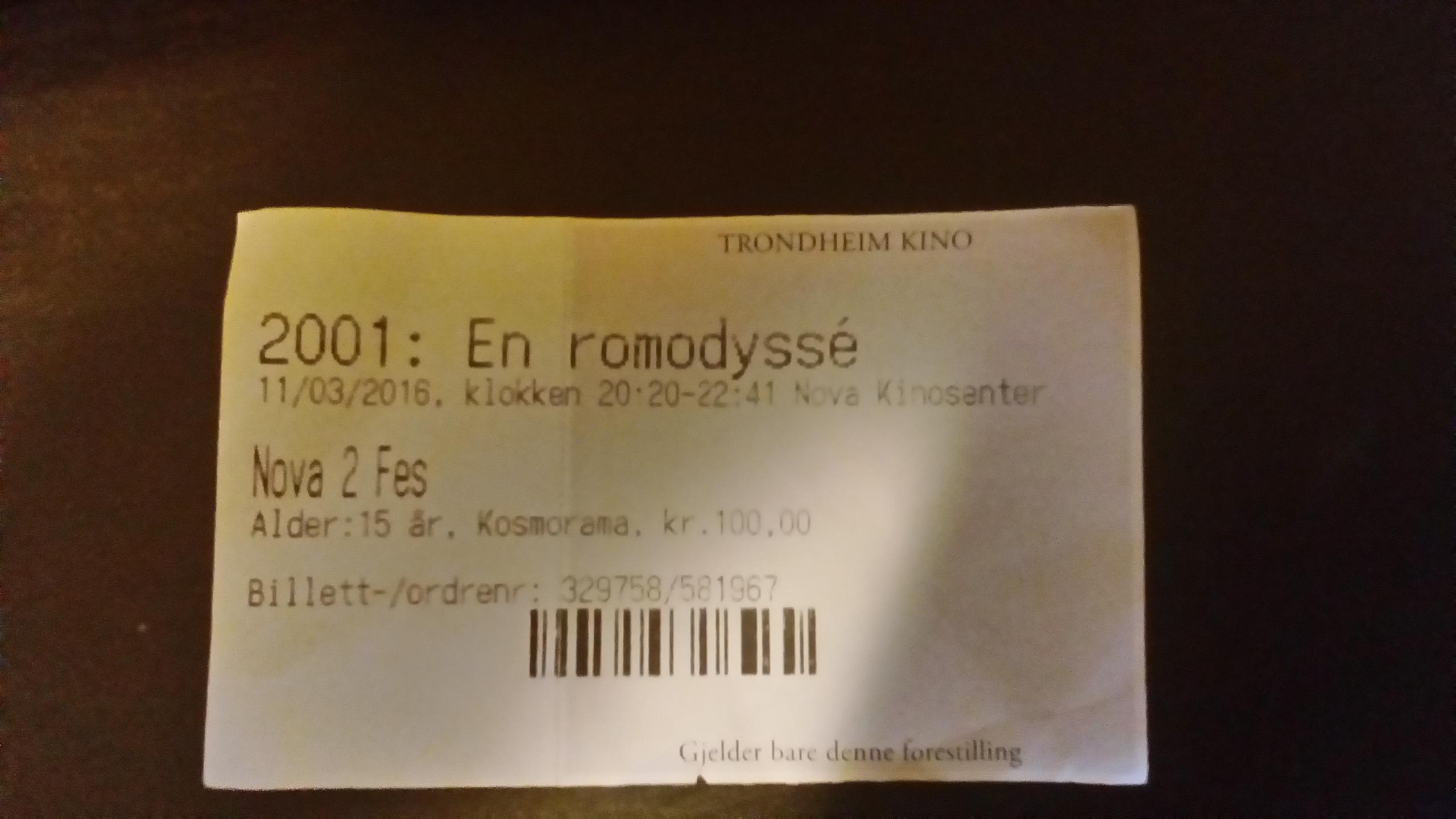 I en tid hvor billetter blir mer og mer QR-koder, er det deilig å faktisk få en fysisk billett til et filmhistorisk mesterverk