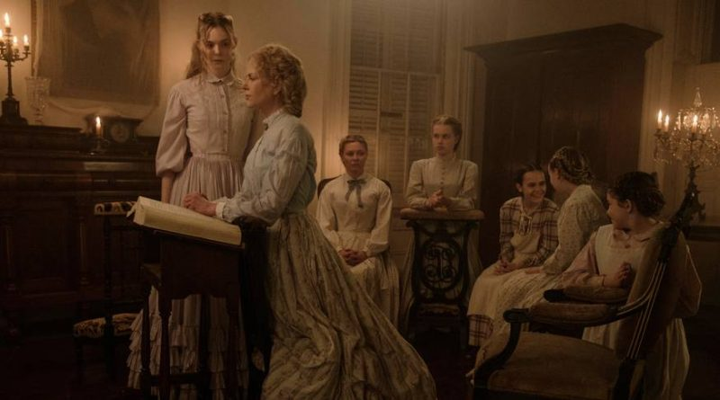 Elle Fanning, Nicole Kidman, Kristen Dunst, Angourie Rice, Oona Laurence, Emma Howard og Addison Riecke i The Beguiled