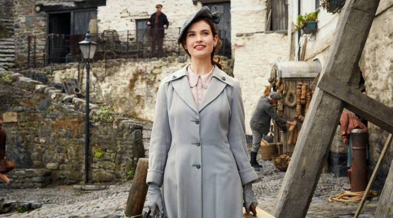 Lily James i Guernsey forening for litteratur og potetskrellpai